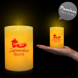 Custom Printed Pillar LED Candles