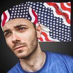 Custom American Flag Bandanas