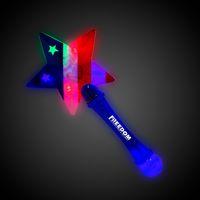LED Flashing Star Prism Wand