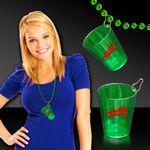 Custom Green Shot Glass Medallion