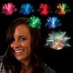 Custom LED Fiber Optic Fascinator Hair Clip