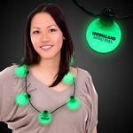 Custom Green LED Ball Necklace