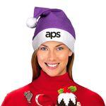 Custom Purple Felt Santa Hats