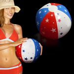 Custom Inflatable Patriotic Stars Beach Ball