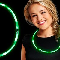 Green LED Necklaces