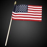 American Flags with Wooden Handle