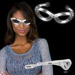 Light Up White Flashing Glasses