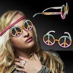 Custom Peace Sign Tie Dye Glasses