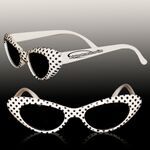 White Polka Dot Funky Children's Sunglasses