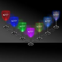 10 Oz. Light-Up Wine Glass w/Black Base