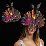 Custom Mardi Gras Peacock Feather Mask