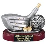 Fully Modeled Resin Golf Driver & Ball Trophy (4