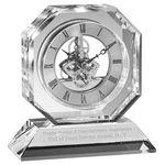 Custom Optical Crystal Skeleton Octagon Desk Clock (5¾