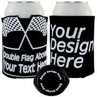 Crazy Frio™ Beverage Holder - Double Checker Flag