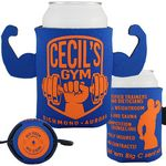 Custom Crazy Frio Beverage Holder - Muscle Man w/ 2 Appendages
