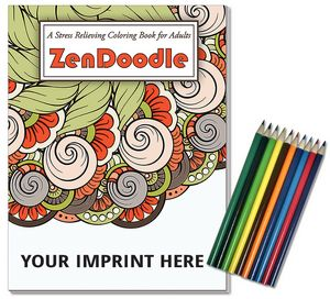 Relax Pack Zendoodle Coloring Book For Adults Colored Pencils