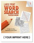 Custom LARGE PRINT Word Search Puzzle Book - Volume 1