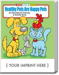 Custom Healthy Pets Are Happy Pets Coloring Book
