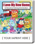 Custom I Love My New Home Coloring & Activity Book