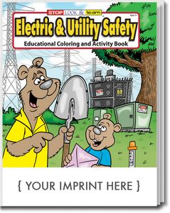 Electric & Utility Safety Coloring Book - 0315 - Brilliant ...