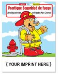 Custom Practice Fire Safety - Practique Seguridad de fuego Spanish Coloring Book