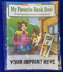 Custom My Favorite Bank Book Coloring Book Fun Pack