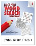 Custom LARGE PRINT Word Search Puzzle Book - Volume 2