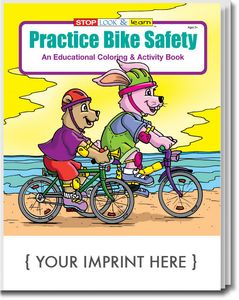 Custom Printed Bicycle Safety Coloring Books