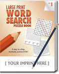 Custom LARGE PRINT Word Search Puzzle Pack Set - Volume 1