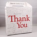 Custom COOKIE BOX - Grandma's Gourmet Cookie Box - Thank You Design