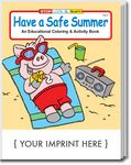 Custom Have a Safe Summer Coloring Book