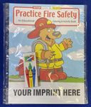 Custom Practice Fire Safety Coloring Book Fun Pack