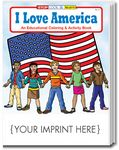 Custom I Love America Coloring Book