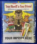 Custom Your Sheriff Is Your Friend Coloring and Activity Book Fun Pack