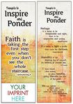 Thoughts to Inspire and Ponder Bookmark