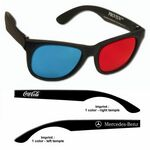 3D Glasses - Plastic ProView - Red/Cyan Lenses - Custom Imprint