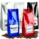 Custom 16 Oz. Gourmet Coffee Bag w/Label