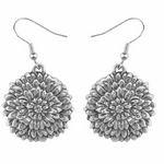 Custom Flower of the Month Earrings - November/ Chrysanthemum
