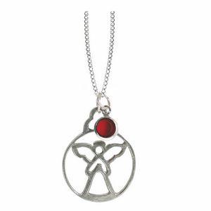 Promotional Product - Birthstone Angel Pendant - July