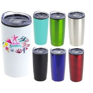 20 oz Modern Double Wall Insulated Travel Mug with Clear Lid