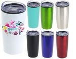 Custom 20 oz Double Wall Insulated Travel Mug with Lid