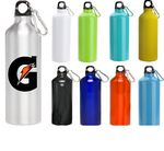 Custom 24 oz Oryza Aluminum Performance Sports Water Bottle With Carabiner and Twist Cap
