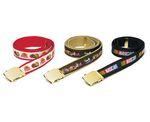 Custom Motif Woven Ribbon Belt