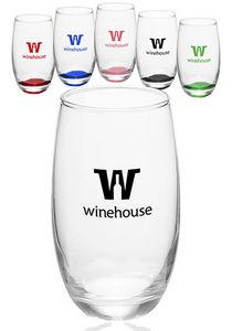 15 Oz. Mikonos Clear Stemless Wine Glasses