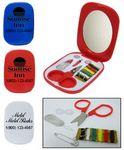 Custom Plastic Mini Sewing Kit w/ Compact Mirror