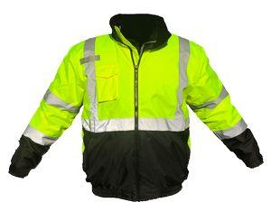 Custom Ahlborn Hi-Vis Green Insulated Bomber Jacket