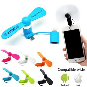 Portable USB Cellphone Fan