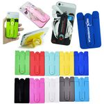 Custom Combo Silicone Cell Phone Wallet & Kickstand