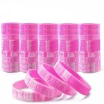 Breast Cancer Awareness Silicone Bracelet 1/2