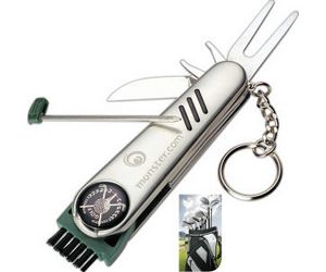 Stainless Steel Pocket Golf Tool Kit 7-in-1 Keychain
